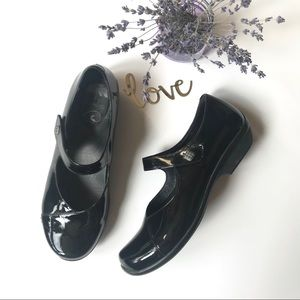 Dansko Black Patent Leather Maryjanes